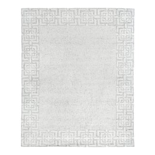 Exquisite Rugs Melbourne Hand Loom Wool & Cotton Gray - 10'x14' For Sale
