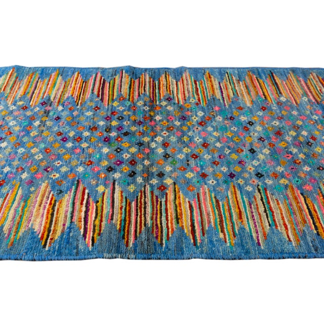 "2010s Modern Gabbeh Rug, 2'7"" X 9'10"" For Sale - Image 5 of 10"