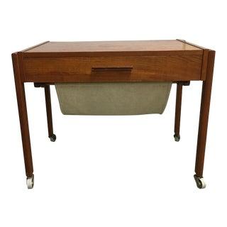 Vintage Teak End Table For Sale