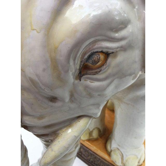 Large Italian Terra Cotta Elephant Garden Stool For Sale In New York - Image 6 of 13