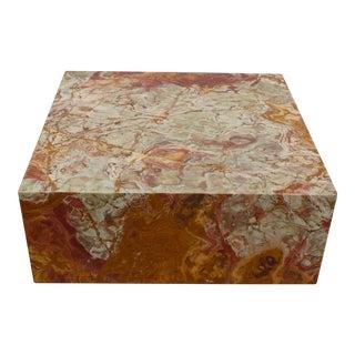 Vintage Onyx Marble Low Profile Coffee Table