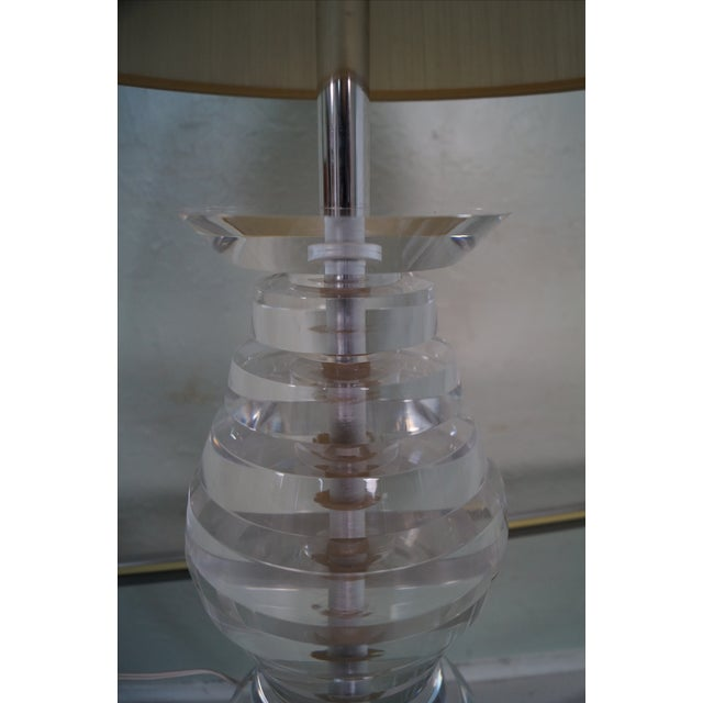 Mid-Century Modern Lucite Lamp by George Bullio For Sale - Image 7 of 10