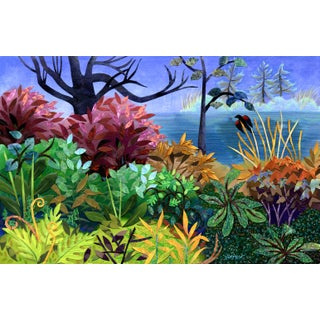 """Blackbird"" Contemporary Landscape Giclee Reproduction by Wynn Yarrow For Sale"