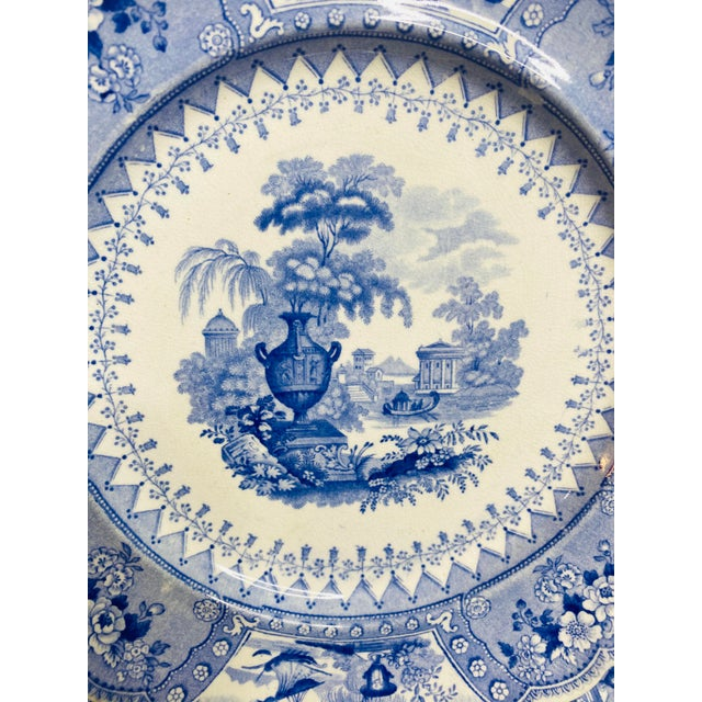 Staffordshire Early 19th Century Staffordshire Blue and White Plates - Set of 8 For Sale - Image 4 of 7