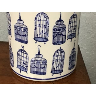 Large Blue and White Vase With Lid Preview