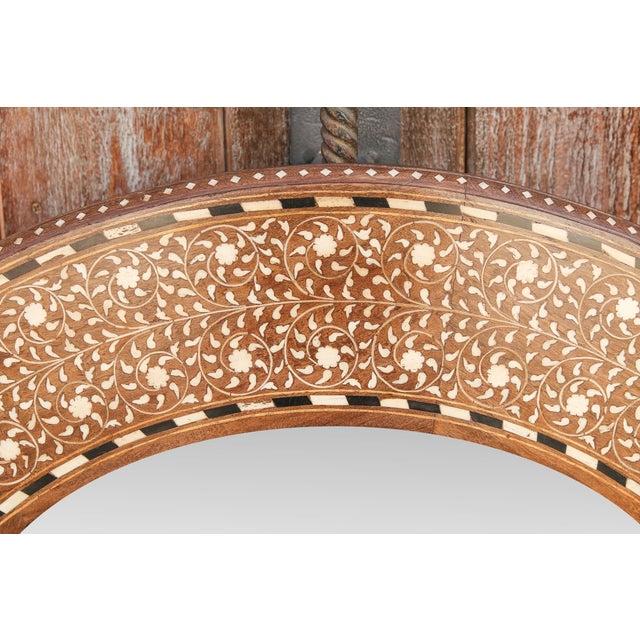 Zellige Round Bone Inlay Mirror For Sale - Image 4 of 6