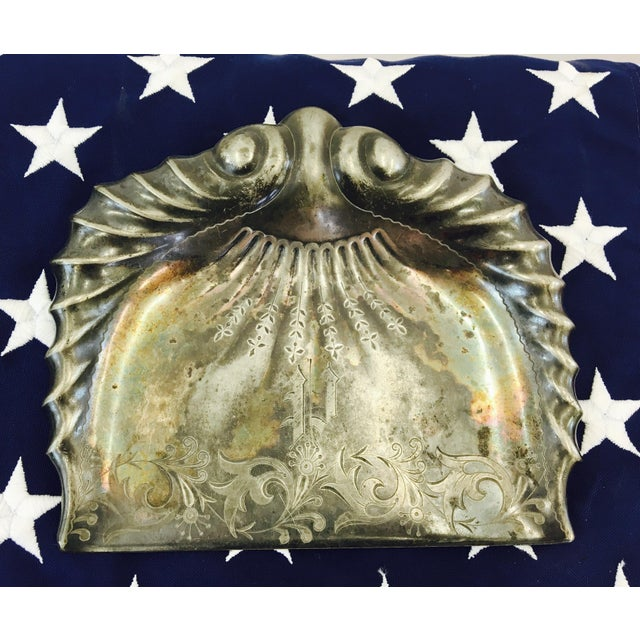 Antique Etched & Engraved Silver Butler's Set For Sale - Image 4 of 8