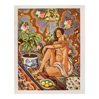 "1940s H. Matisse, ""Decorative Figure on an Ornamental Background"" Original Period Lithograph For Sale"