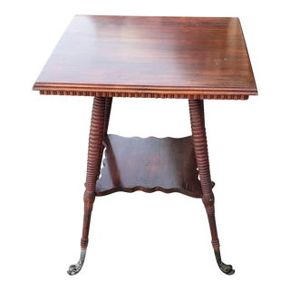 Late 19th Century Antique Cherry Side Table For Sale