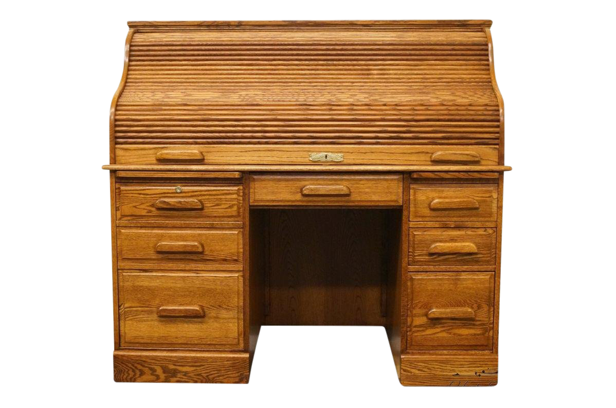 Winners Only Solid Oak Country French 54 Executive Roll Top Desk Chairish