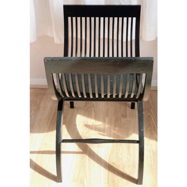 1960s Black Savonarola Chair For Sale - Image 5 of 7