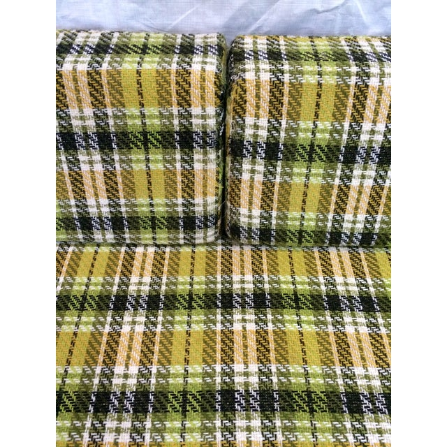 Mid-Century Green Plaid Daybed Sofa For Sale - Image 5 of 10