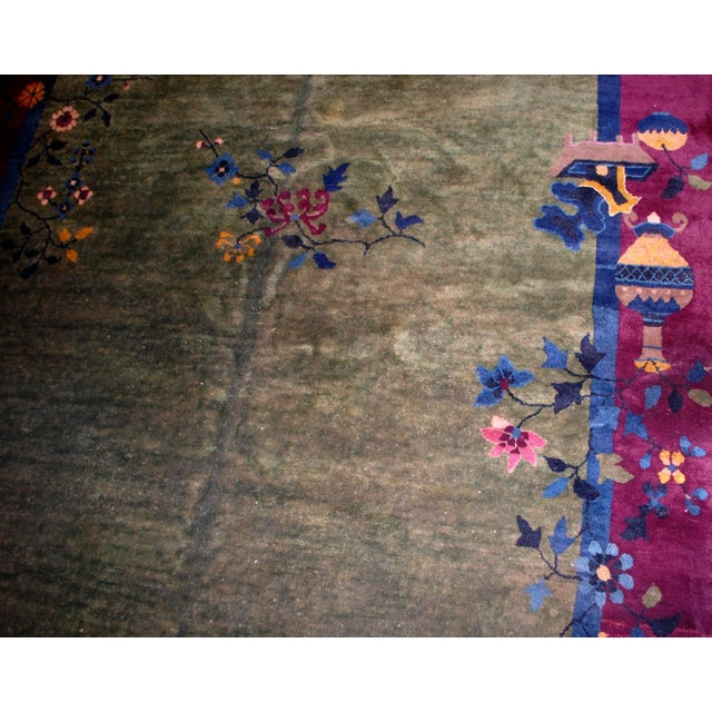 1920s Antique Art Deco Chinese Rug - 6′2″ × 11′8″ - Image 5 of 8
