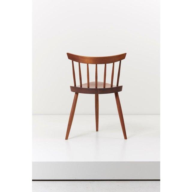 Wood Pair of George Nakashima Studio Mira Nakashima Mira Chair in Walnut For Sale - Image 7 of 10