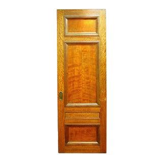 3-Panel Mahogany Salvaged Pocket Interior Door