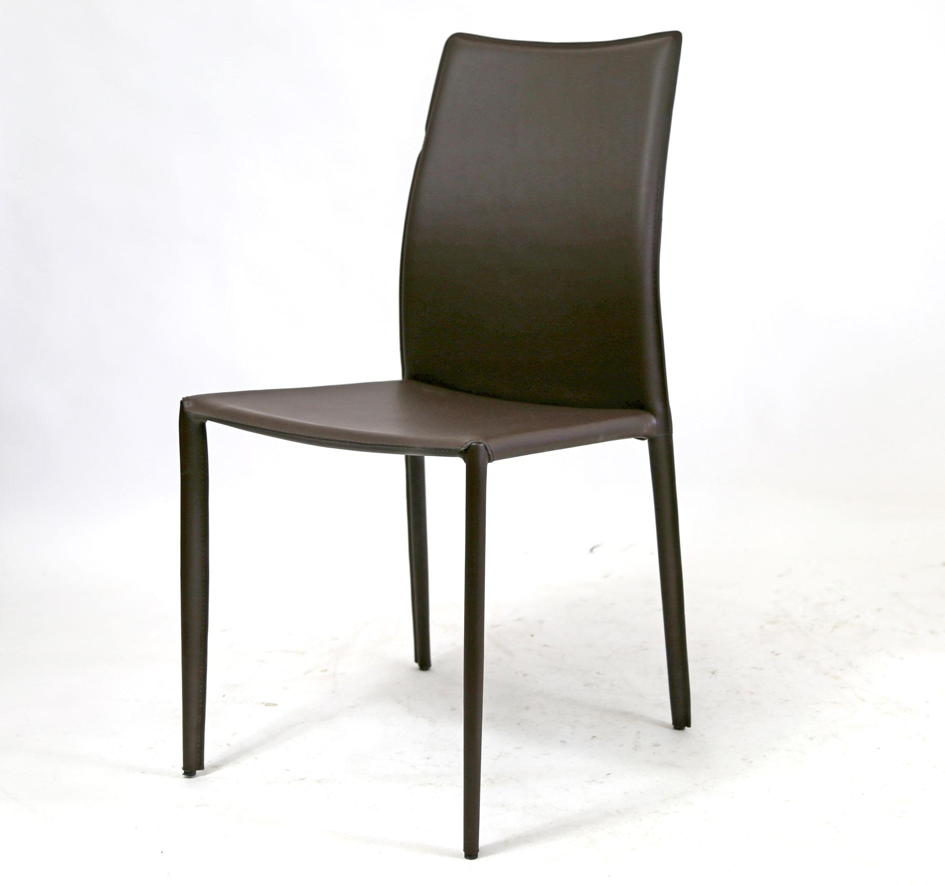 Superbe Alphaville Design Lilly Chair In A Dark Brown Leather And In Good Overall  Floor Model Condition