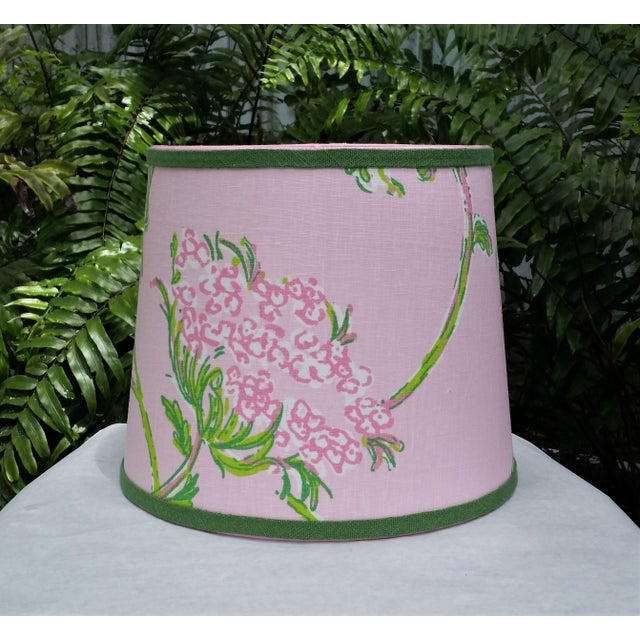 Not Yet Made - Made To Order Lilly Pulitzer Fabric Pink, Green Tapered Drum Lampshade For Sale - Image 5 of 12
