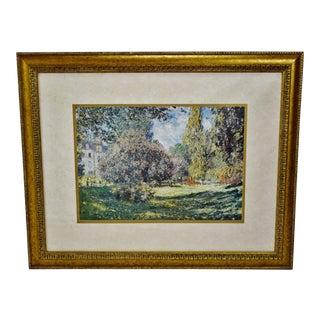 """Vintage Claude Monet """"The Parc Monceau Paris"""" Framed Print For Sale"""