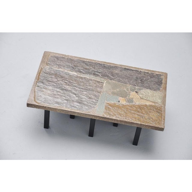 Paul Kingma rectangular coffee table in stone and concrete 1963 - Image 2 of 7