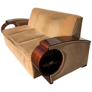 Glamorous French Art Deco Sofa For Sale