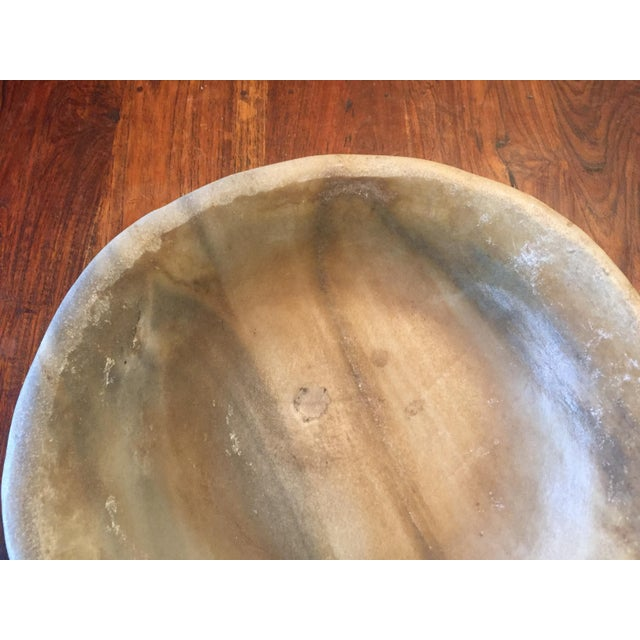 Old Marble Bowl - Image 3 of 5