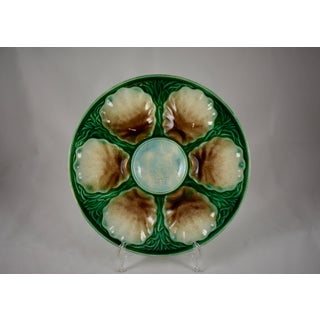 19th Century Salins French Majolica Oyster Plate Preview
