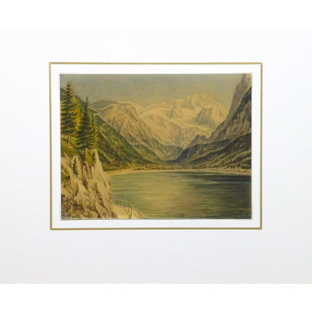 1950 Vintage Original Watercolor, Majesty's Point - Image 4 of 4
