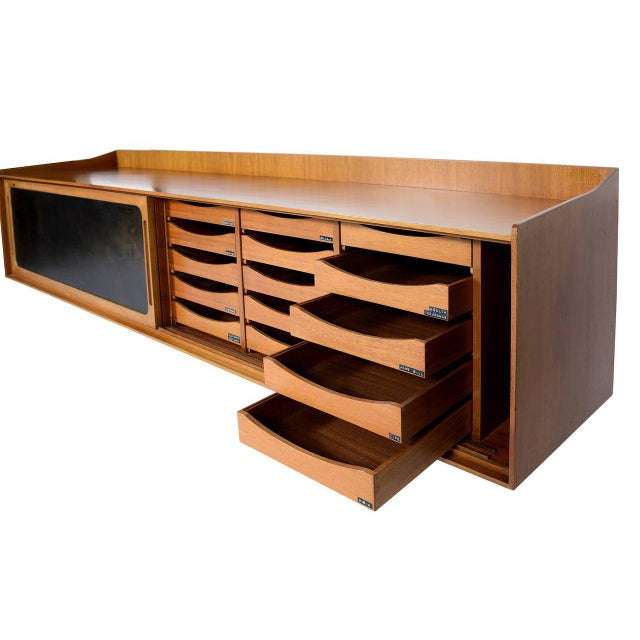 Danish Teak Wall Hanging Cabinet For Sale In Los Angeles - Image 6 of 10