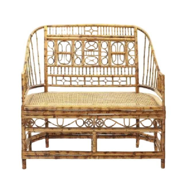 1900s Bamboo Parlor Bench For Sale