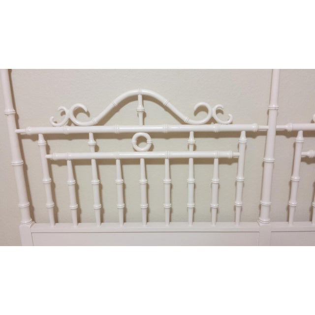 Vintage Chinese Chippendale Faux Bamboo Fretwork King Size