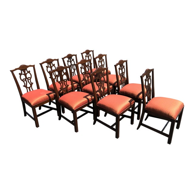 Chippendale Style Dining Chairs - Set of 10 For Sale