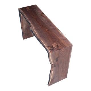 Live Edge Walnut Slab Entry Table For Sale
