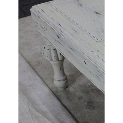 Wood Ornate White Wash Side Table For Sale - Image 7 of 8