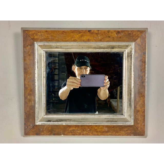 English Bird's-Eye Maple Frame With Mirror For Sale In Los Angeles - Image 6 of 6