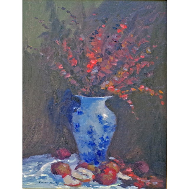 Bob Waltsak Autumn Floral Still Life Oil Painting - Image 1 of 4