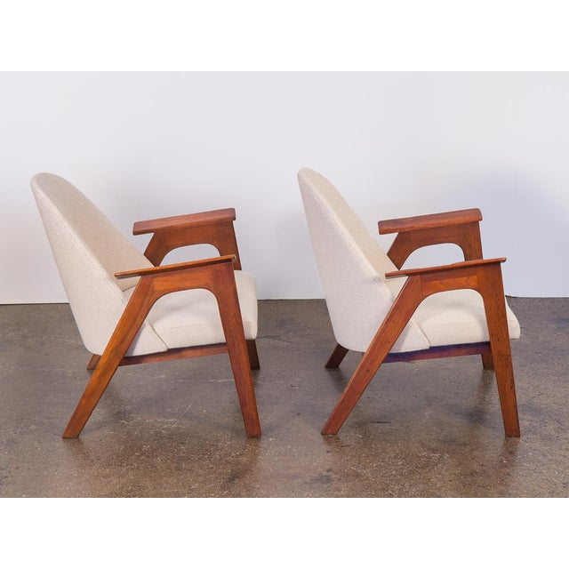 Abstract Spectacular American Walnut Armchairs- A Pair For Sale - Image 3 of 11
