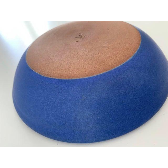 Bright Blue Ceramic Bowl For Sale - Image 9 of 11