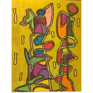 "1980s ""Mustard Dna"" Marker Drawing Nyc Artist John Peters For Sale"