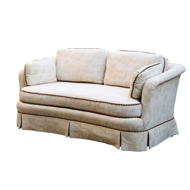 Sherrill Mid Century Style Tuxedo Sofa in Cream - Image 8 of 8