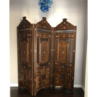 Hand Carved Moroccan Style Room Divider Preview