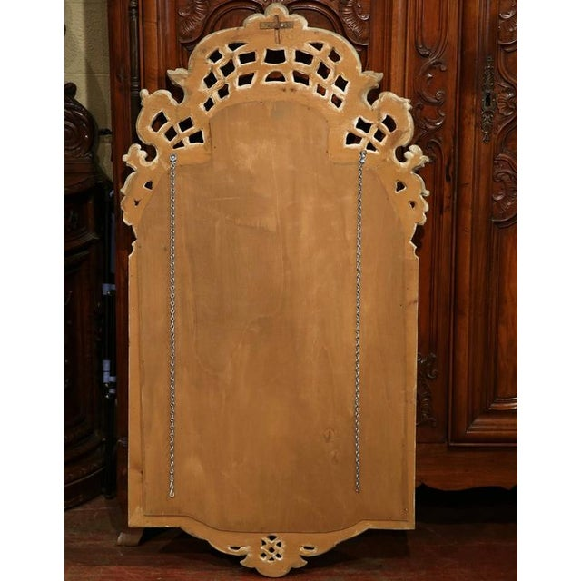 Glass Early 20th Century Italian Carved Painted Mirror With Antiqued Glass For Sale - Image 7 of 7
