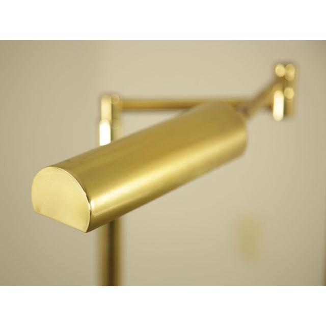 Metal Koch & Lowy OMI Vintage Brass Pair Swing Arm Floor Lamps For Sale - Image 7 of 12