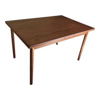 20th Century Danish Modern Teak Draw-Leaf Table For Sale