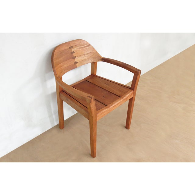 Mid Century Modern Dining or Desk Chairs Sustainably Sourced Royal Mahogany. Xiloa Chairs - 4 - Image 9 of 9