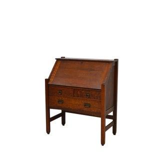 Early 20th Century Vintage Stickley Brothers Quartwesawn Mission Oak Desk For Sale