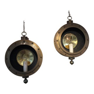 Brass Nautical Lights - A Pair For Sale