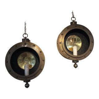 Brass Nautical Lights - A Pair