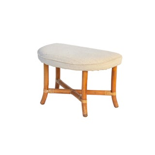 Demilune Ottoman in Rattan by Tommi Parzinger Preview