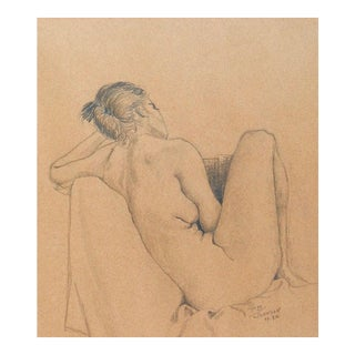 Nude Pencil Drawing For Sale