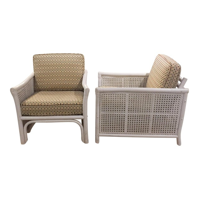 Ficks Reed Mid Century Bamboo & Caned Lounge Chairs - a Pair - Image 1 of 9